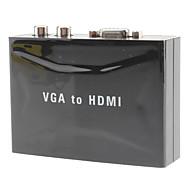 HDMI 1.3 Convertidor, HDMI 1.3 to VGA 2RCA Convertidor Hembra - Hembra