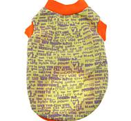 Недорогие -Собака Футболка Одежда для собак На каждый день Буквы и цифры Черный Серый Желтый Красный Синий Костюм Для домашних животных