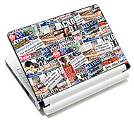 """Newspaper"" Pattern Laptop Protective Skin Sticker For 10""/15"" Laptop 18586(15"" suitable for below 15"")"