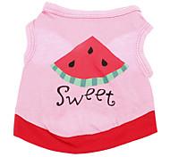 Cani T-shirt Rosa Abbigliamento per cani Estate Lettere & Numeri