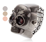 Unisex Red Eyes Skull Style Alloy Analog Quartz Ring Watch (Assorted Colors) Cool Watches Unique Watches