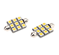 abordables -Festón Coche Bombillas W SMD 5050 90-120lm lm Luces interiores ForUniversal