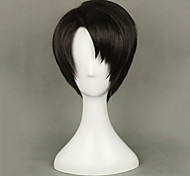 Cosplay Wigs Attack on Titan Levy Black Short Anime Cosplay Wigs 35 CM Heat Resistant Fiber Male