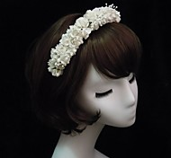 cheap -Crystal Fabric Paper Tiaras Headbands 1 Wedding Special Occasion Party / Evening Headpiece