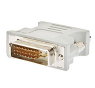 cheap -DVI 24+1 Male to VGA Female Adapter White