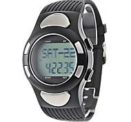 Недорогие -Мужской Наручные часы Цифровой LCD Календарь Секундомер Защита от влаги тревога Pезина Группа Черный