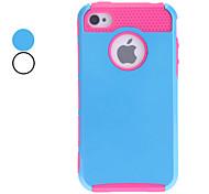 Doppel Shells Design Rose TPU Inner Shell Hard Case für iPhone 4/4S (verschiedene Farben)
