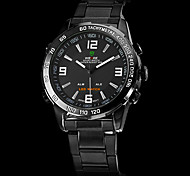 cheap -WEIDE® Brand Men's Dual Time Analog-Digital LED Display Black Steel Band Luxury Wrist Watch Cool Watch Unique Watch