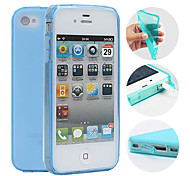 cheap -Case For iPhone 4/4S Apple Back Cover Soft TPU for iPhone 4s/4