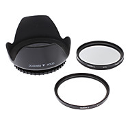 Insten UV+CPL 58mm+LENS HOOD For CANON S3IS S5 G7 G9 G10 S2 IS