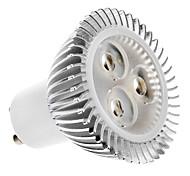 baratos -2700 lm GU10 Lâmpadas de Foco de LED MR16 3 leds LED de Alta Potência Branco Quente AC 100-240V