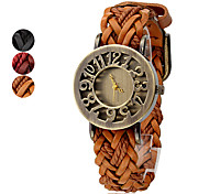 Women's PU and Fabric Band Analog Quartz Wrist Watch (Assorted Colors) Cool Watches Unique Watches Fashion Watch Strap Watch