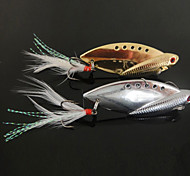 cheap -New Designed Fishing 3-Hooks with Fish-Shaped Metal Lure(10g,14g,22g; Color Ramdon)