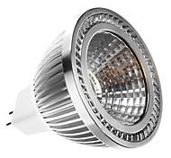 gu5.3 (mr16) spotlight conduzido mr16 1 cob 400lm branco quente 2700k dc 12 ac 12v