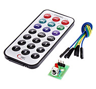 cheap -IR Receiver Module Wireless Remote Control Kit for (For Arduino) (1 x CR2025)