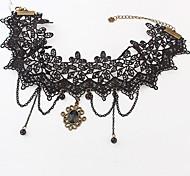Недорогие -старинные кружева с бисером смолы женщин ожерелье классический женский стиль
