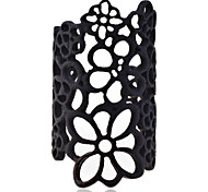 European Style  Hollow-Out Lace Pattern Alloy Cuff Ring