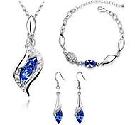 Недорогие -Жен. Набор украшений Серьги-слезки Ожерелья с подвесками Браслет Кристалл Синтетический алмаз Классический Мода Для вечеринок День
