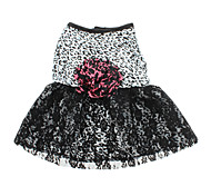 Недорогие -Собака Платья Одежда для собак Матовый черный Черный Костюм Для домашних животных