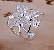 cheap -Women's Engagement Ring Luxury Adjustable Open Crystal Butterfly Animal Jewelry Wedding Daily