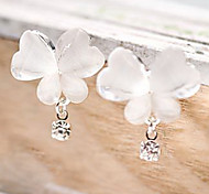cheap -Women's Synthetic Diamond Drop Earrings - Rhinestone Butterfly, Animal Unique Design, Simple Style White For Party / Daily