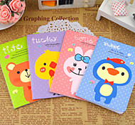 White Dot Animal Small Notebook(Random Color)