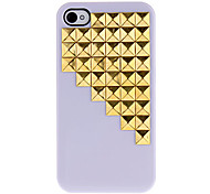 Golden Square Rivetti Covered Giù modello Scale Hard Case con Colla per iPhone 4/4S (colori assortiti)