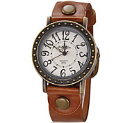 Women's Dress Watch Fashion Watch Wrist watch Quartz Silicone Band Vintage Brown