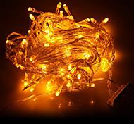 10m 100-led желтый свет привело свет строки украшения (220v)