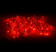 abordables -Guirlandes Lumineuses 100 LED Rouge 220V