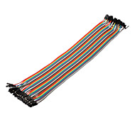 cheap -40Pin 1P-1P Female to Female Dupont Line Colorful Dupont Wire(30CM)