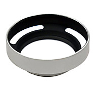 For Leica M 39mm Silver metal vented Lens Hood Shade