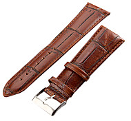 cheap -Unisex 26mm Craquelure Grain Leather Watch Band (Brown) Cool Watch Unique Watch Fashion Watch