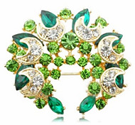 cheap -Women's - Crystal Fashion Brooch Green / Blue For Party / Daily