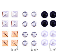 Stud Earrings Pearl Crystal Imitation Pearl Resin Simulated Diamond Fashion Rainbow Jewelry Party Daily Casual 1set