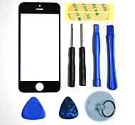 cheap -Repair LCD Front Screen Glass Lens Part with 3M Sticker and Assembly Tools for iPhone 5 (Black)