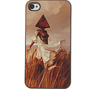 Lifelike Scarecrow Pattern PC Hard Case with 3 Packed HD Screen Protectors for iPhone 4/4S