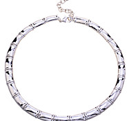 Europestyle Fashion Sterling Silver 925 Glaze  Bamboo Joint Necklace