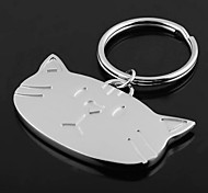 cheap -Personalized Engraved Gift Cat Head Shaped Keychain