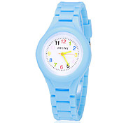 Children's Colorful Dial Bright Color Silicone Band Quartz Analog Wrist Watch (Assorted Colors) Cool Watches Unique Watches Strap Watch