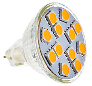 GU5.3(MR16) LED Spotlight MR11 12 leds SMD 5050 Warm White 210-250lm 2800-3200K AC 12V