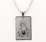 baratos -Personalizado Padrão Presente Virgem Maria Colar Gravado
