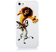 Leone e del modello della zebra cassa molle del silicone per iPhone4/4S
