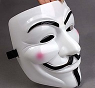 cheap -Thicken White Mask V For Vendetta Full Face Scary Cosplay Gadgets for Halloween Costume Party
