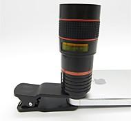 universelle 8x téléobjectif avec clip pour téléphone portable iPhone Samsung HTC Smart rouge + noir de téléphone