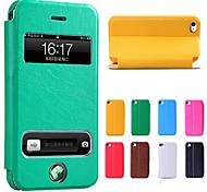 cheap -New Smart Luxury Flip Leather Cover Case for iPhone 4/4S(Assorted Colors)
