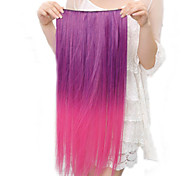 High Temperature Resistance Two-tone 20 Inch Long Straight 5 Clip Hairpiece Extension 11 Colors Available