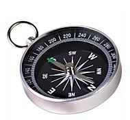 Портативный, металлический компас (большой размер) - серебряный