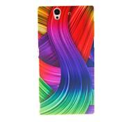 Дело Pattern Кинстон цветная лента Пластиковые Футляр для Sony L36h (Xperia Z)