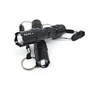 cheap -LED Flashlights / Torch LED <50 lm 1 Mode - Super Light Small Size Compact Size Climbing Traveling Black